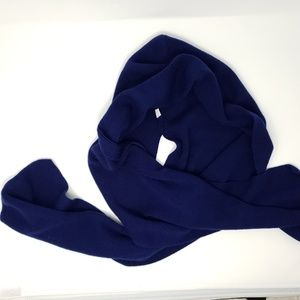 vintage blue hooded scarf